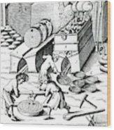 Smelting Copper Wood Print