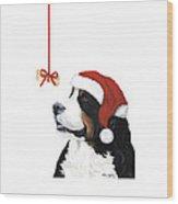 Smile Its Christmas Phone Wood Print