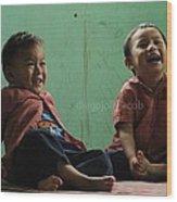 Smile Please Wood Print