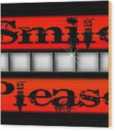Smile Please Wood Print