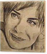 Smile Wood Print by Soumya Bouchachi