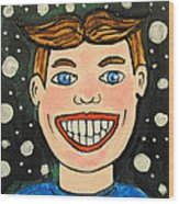 Smiling Boy Wood Print