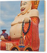 smiling Buddha Wood Print by Adrian Evans