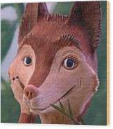 Smiling Fox Wood Print
