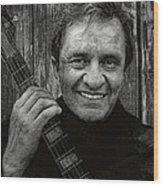 Smiling Johnny Cash Wood Print
