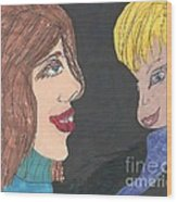 Smiling Princesses Wood Print