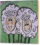Ewe And Me Smiling  Wood Print