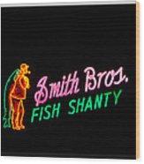 Smith Bros. Fish Shanty Wood Print