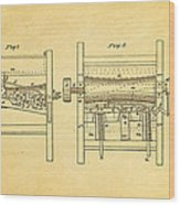 Smith Corn Sheller Patent Art 1854 Wood Print