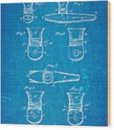 Smith Kazoo Musical Toy Patent Art 1902 Blueprint Wood Print