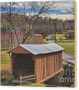 Smith River Covered Bridge Wood Print