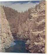 Smith River Forest Canyon Wood Print
