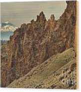 Smith Rock And Cascades Wood Print