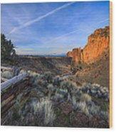 Smith Rock At Sunrise Wood Print