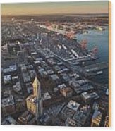 Smith Tower And West Seattle Wood Print