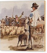 Smithfield Drover, From The Costumes Wood Print