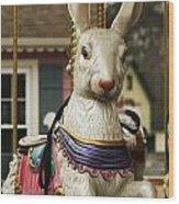 Smithville Carousel Rabbit Wood Print