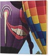 Smitten Hot Air Balloon Wood Print