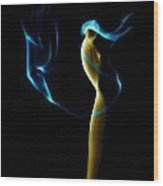 Smoke 2 - Solitude Standing Wood Print by Mark Fuller