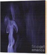 Smoke Art Wood Print