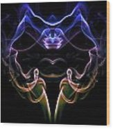 Smoke Devil Wood Print