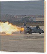 Smoke N Thunder Jet Car Wood Print