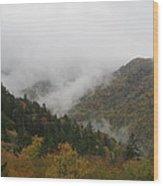 Smoke On The Mountains Wood Print