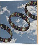 Smoke Rings In The Sky 1 Wood Print