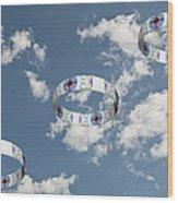 Smoke Rings In The Sky 2 Wood Print