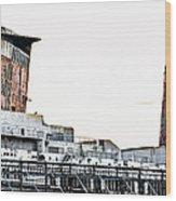 Smoke Stacks - Ss United States - Philadelphia Wood Print