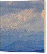Smokey Blue Morning Wood Print