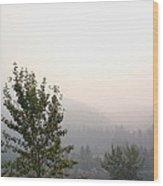 Smokey Landscape Wood Print