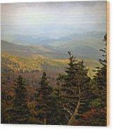 Smokey Mountain High Wood Print