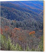Smokey Mountain Pass Wood Print