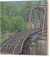 Smokey Mountain Railroad Steel Girder Bridge Wood Print