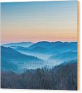 Smokey Mountain Rising Wood Print