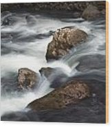 Smokey Mountain Stream In Autumn No.11 Wood Print