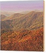 Smokey Mountains Wood Print by Will Burlingham