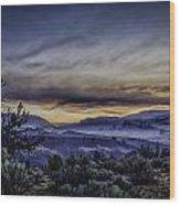Smokey Sunrise Wood Print
