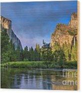 Smokey Valley Wood Print