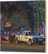Smokin Diesel Performance Pulling Truck Wood Print
