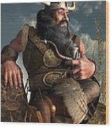 Smoking Dwarf Wood Print