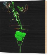 Smoking Martini Wood Print