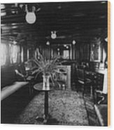Smoking Room On The Presidential Yacht Wood Print