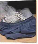 Smoking Shorts And Tennis Shoes Wood Print