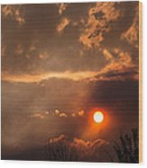 Smoky Clouds Over The Rogue Valley Wood Print