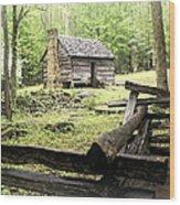 Smoky Homestead Wood Print by Marty Koch