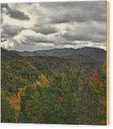 Smoky Mountain Autumn View Wood Print