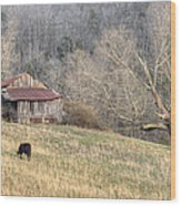 Smoky Mountain Barn 3 Wood Print