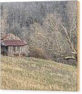 Smoky Mountain Barn 4 Wood Print